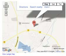google map of kishangarh